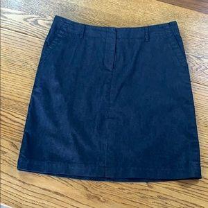Kenneth Cole Navy Denim Skirt Size 10